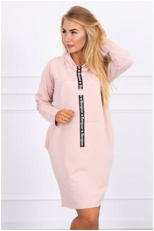 Nude spalvos suknelė tunika MOD479