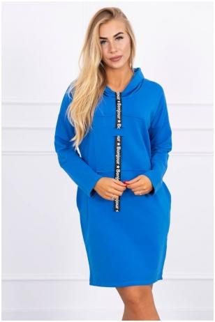 Rugiagėlių spalvos suknelė tunika MOD479