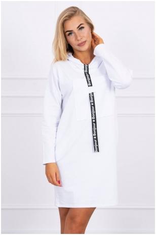 Balta suknelė tunika MOD479