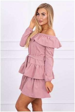 Violetinė suknelė MOD478