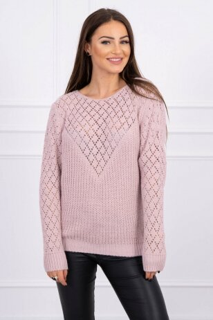 Nude spalvos megztinis MOD489