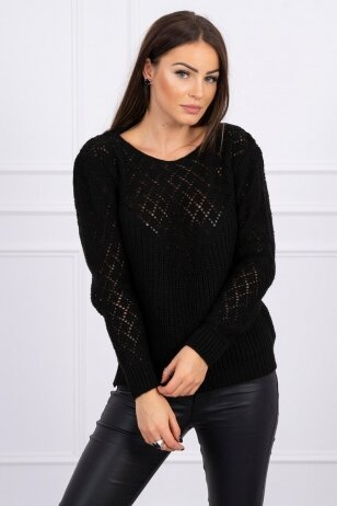 Juodas megztinis MOD489