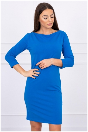 Rugiagėlių spalvos suknelė MOD017