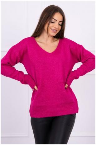 Rožinės spalvos megztinis MOD500