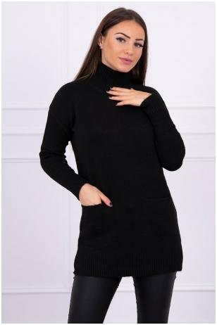 Juodas megztinis MOD498