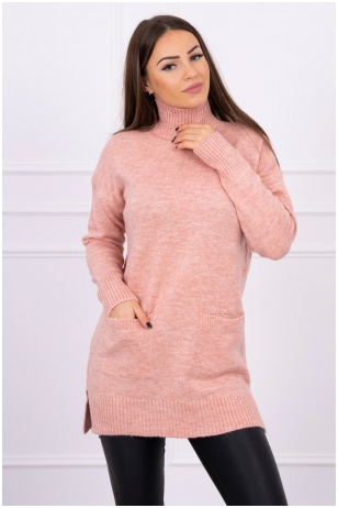 Nude spalvos megztinis MOD498