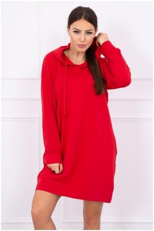 Raudona suknelė MOD515