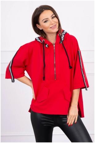 Raudonos spalvos marškinėliai MOD510