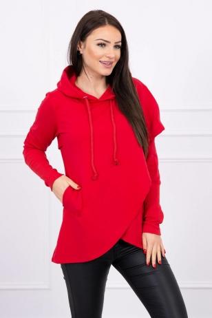 Raudonos spalvos marškinėliai MOD605
