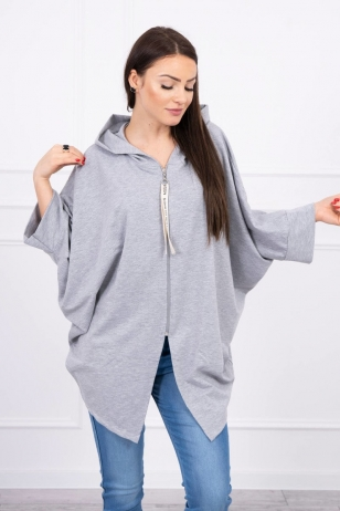 Pilkos spalvos marškinėliai MOD604