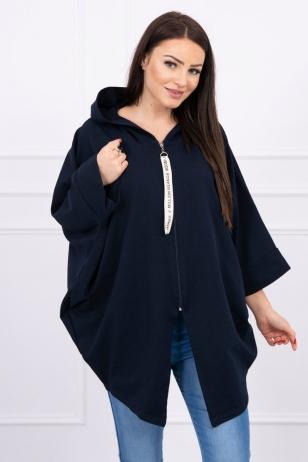 Tamsiai mėlynos spalvos marškinėliai MOD604