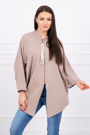 Kapučino spalvos marškinėliai MOD604