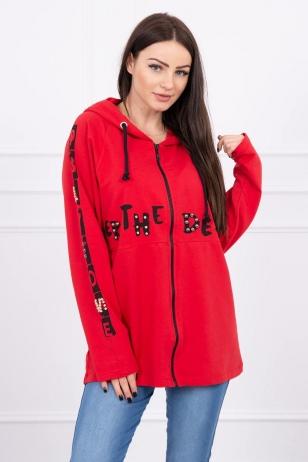 Raudonos spalvos marškinėliai MOD603