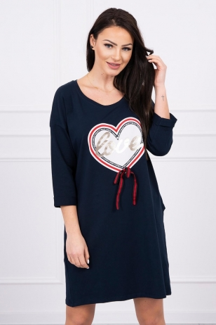 Tamsiai mėlyna suknelė MOD555