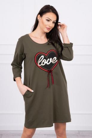 Chaki spalvos suknelė MOD555