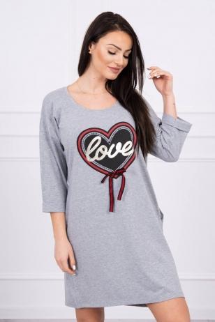 Pilka suknelė MOD555