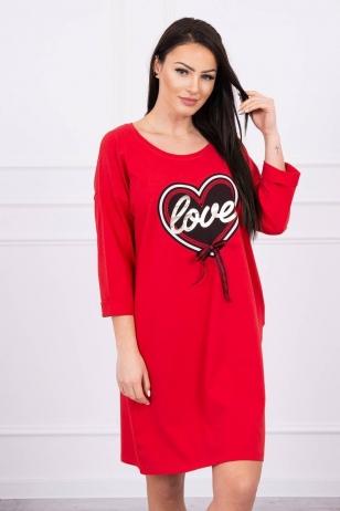 Raudona suknelė MOD555