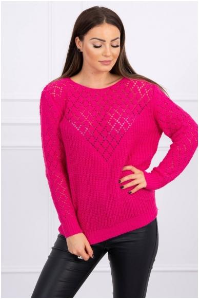 Rožinės spalvos megztinis MOD489