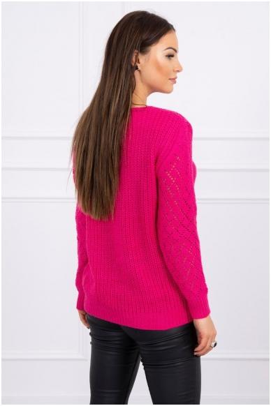 Rožinės spalvos megztinis MOD489 2