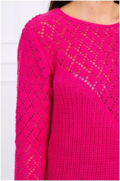 Rožinės spalvos megztinis MOD489 3