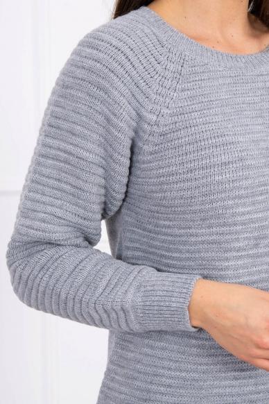 Pilkas ilgas megztinis suknelė MOD492 4