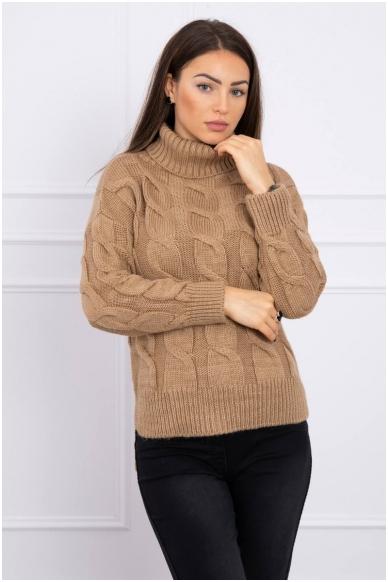 Šviesiai rudas megztinis MOD493