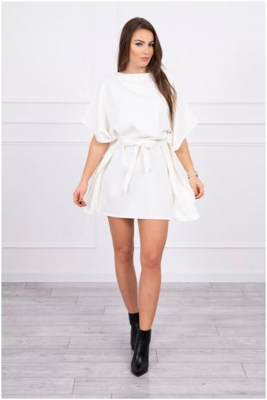 Nebalintos drobės spalvos suknelė MOD497 3