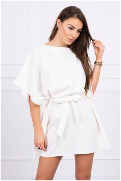 Nebalintos drobės spalvos suknelė MOD497