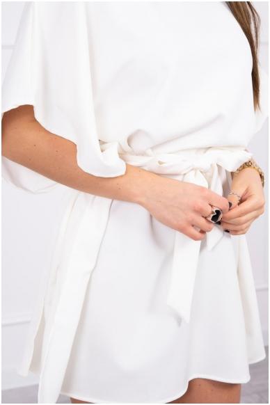 Nebalintos drobės spalvos suknelė MOD497 4