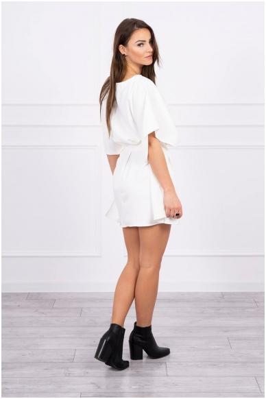 Nebalintos drobės spalvos suknelė MOD497 2