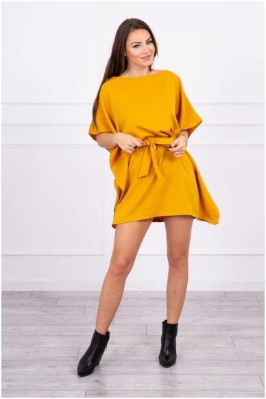 Garstyčių spalvos suknelė MOD497 3