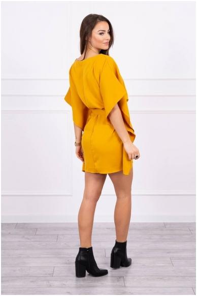 Garstyčių spalvos suknelė MOD497 2