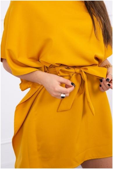 Garstyčių spalvos suknelė MOD497 4