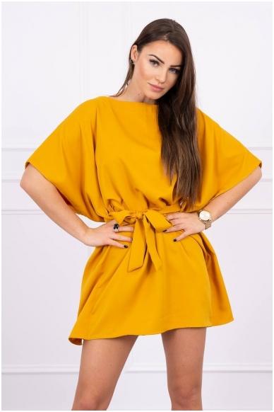Garstyčių spalvos suknelė MOD497