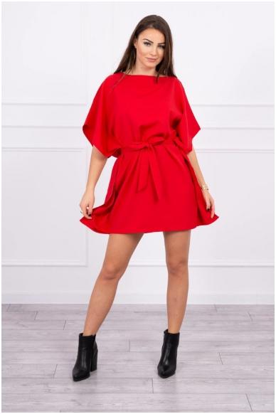 Raudona suknelė MOD497 3