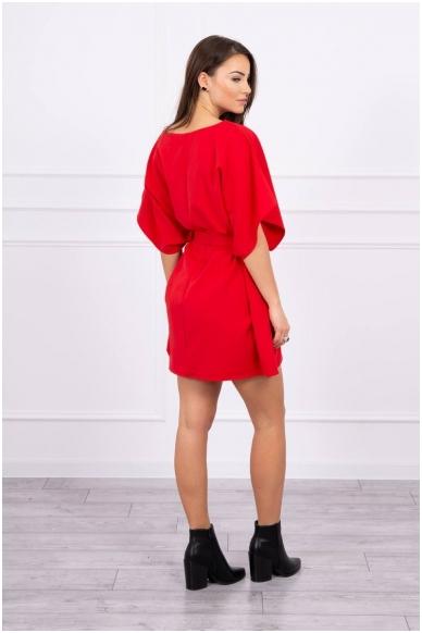 Raudona suknelė MOD497 2