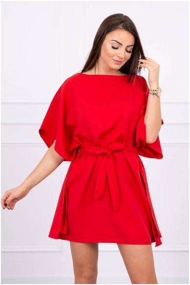 Raudona suknelė MOD497