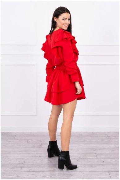 Raudona suknelė MOD486 2
