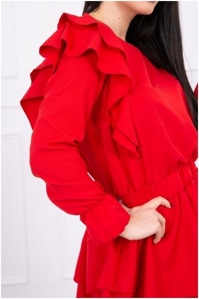 Raudona suknelė MOD486 4