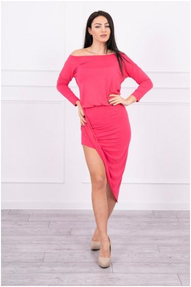 Avietinės spalvos suknelė MOD013