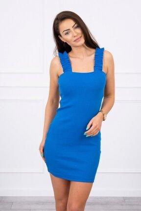 Rugiagėlių spalvos suknelė MOD692