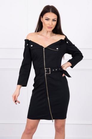Juoda džinsinė suknelė MOD574