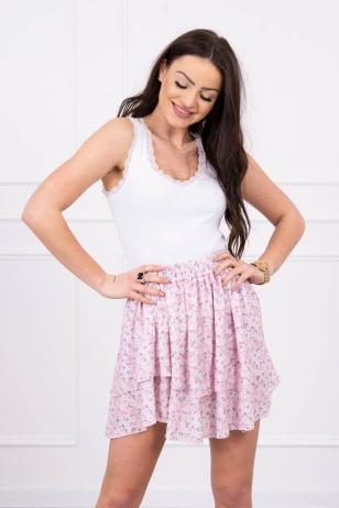 Šviesiai rožinės spalvos sijonas MOD601