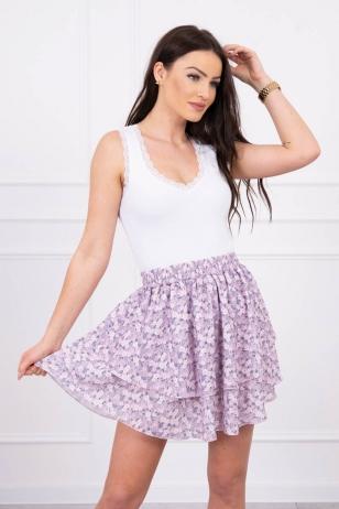 Violetinės spalvos sijonas MOD601