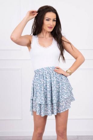 Mėtinės spalvos sijonas MOD601