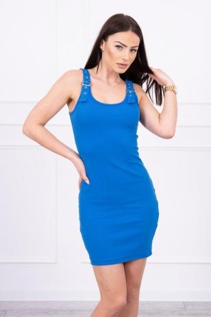 Rugiagėlių spalvos suknelė MOD249