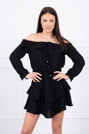 Juoda suknelė MOD610