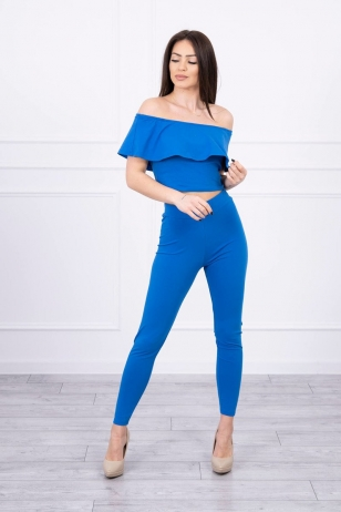 Rugiagėlių spalvos moteriškas kostiumėlis MOD015