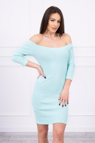 Mėtinės spalvos suknelė MOD209