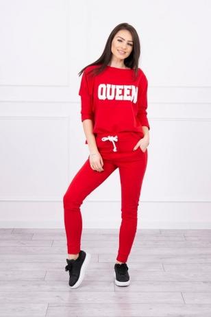 Raudonas sportinis kostiumas MOD623